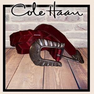 Beautiful Cole Haan Bordeaux leather belt …